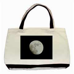 Moon Twin Sided Black Tote Bag