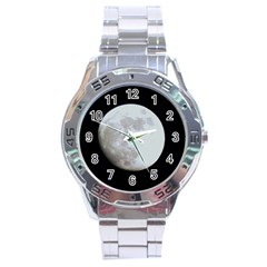 Moon Stainless Steel Analogue Watch (Round)
