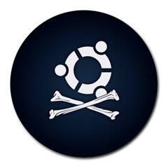Ubuntu Bone 8  Mouse Pad (Round)