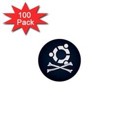 Ubuntu Bone 100 Pack Mini Button (Round)
