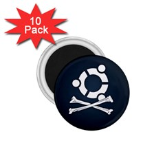 Ubuntu Bone 10 Pack Small Magnet (Round)