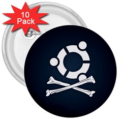 Ubuntu Bone 10 Pack Large Button (round)