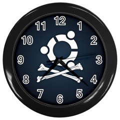 Ubuntu Bone Black Wall Clock