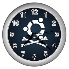 Ubuntu Bone Silver Wall Clock