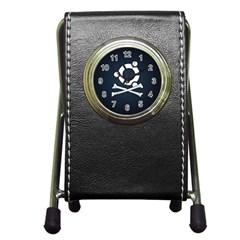 Ubuntu Bone Stationery Holder Clock