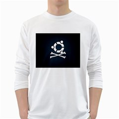 Ubuntu Bone White Long Sleeve Man''s T-shirt