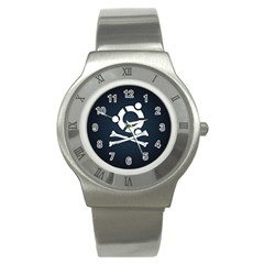 Ubuntu Bone Stainless Steel Watch (round)