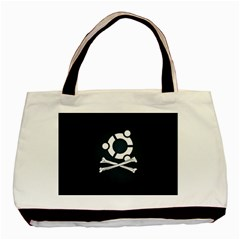 Ubuntu Bone Twin-sided Black Tote Bag