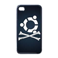 Ubuntu Bone Black Apple iPhone 4 Case