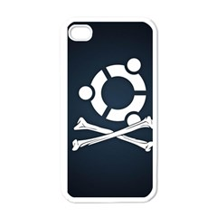 Ubuntu Bone White Apple iPhone 4 Case