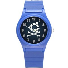 Ubuntu Bone Round Plastic Sport Watch Small