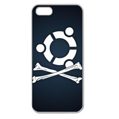 Ubuntu Bone Apple Seamless iPhone 5 Case (Clear)