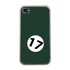 British Racing Green Apple iPhone 4 Case (Clear)