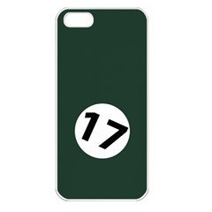 British Racing Green Apple iPhone 5 Seamless Case (White)