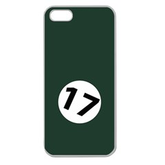 British Racing Green Apple Seamless iPhone 5 Case (Clear)