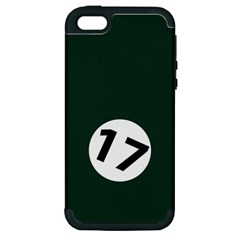 British Racing Green Apple iPhone 5 Hardshell Case (PC+Silicone)