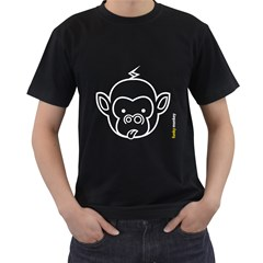 Funkymonkey White Outline Black T Shirt