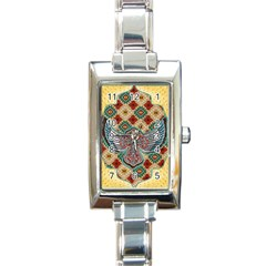 South West Leather Look Classic Elegant Ladies Watch (Rectangle)