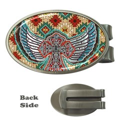 South West Leather Look Money Clip (Oval)