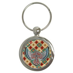 South West Leather Look Key Chain (Round)