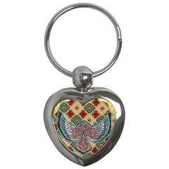 South West Leather Look Key Chain (Heart)