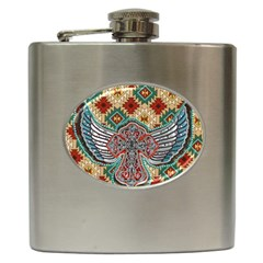 South West Leather Look Hip Flask