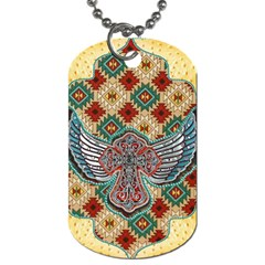 South West Leather Look Twin Sided Dog Tag