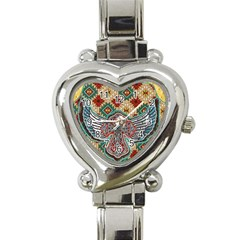 South West Leather Look Classic Elegant Ladies Watch (heart)