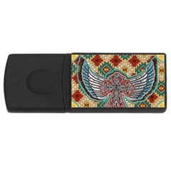 South West Leather Look 4Gb USB Flash Drive (Rectangle)