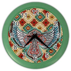 South West Leather Look Colored Wall Clock