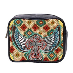 South West Leather Look Twin Sided Cosmetic Case