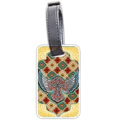 South West Leather Look Twin-sided Luggage Tag