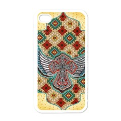 South West Leather Look White Apple iPhone 4 Case