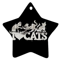 Catz Ceramic Ornament (Star)
