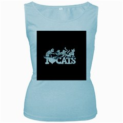 Catz Baby Blue Womens  Tank Top