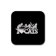 Catz Rubber Drinks Coaster (Square)