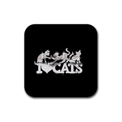 Catz 4 Pack Rubber Drinks Coaster (square)