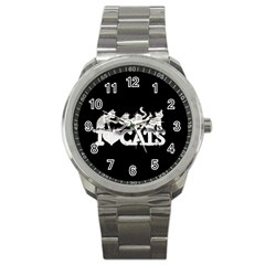 Catz Stainless Steel Sports Watch (Round)