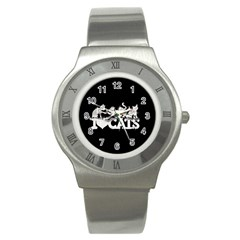 Catz Stainless Steel Watch (round)