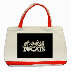 Catz Red Tote Bag