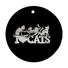 Catz Twin-sided Ceramic Ornament (Round)