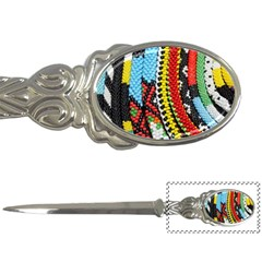 Multi-Colored Beaded Background Paper Knife