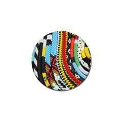 Multi-Colored Beaded Background 4 Pack Golf Ball Marker