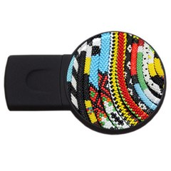 Multi-Colored Beaded Background 4Gb USB Flash Drive (Round)