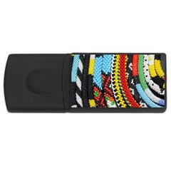 Multi-Colored Beaded Background 4Gb USB Flash Drive (Rectangle)