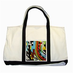 Multi Colored Beaded Background Two Toned Tote Bag