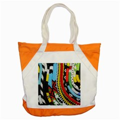 Multi Colored Beaded Background Snap Tote Bag