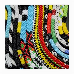 Multi Colored Beaded Background Twin Sided Large Glasses Cleaning Cloth