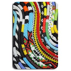 Multi Colored Beaded Background Large Door Mat