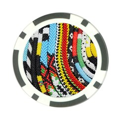 Multi Colored Beaded Background Poker Chip